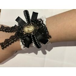 Steampunk Gothic Victorian Wrist Band With Cameo