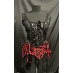 Steampunk /Gothic Raven  2 Piece Outfit ML Size 12/14