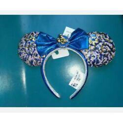 Kyпить Disney Parks WDW Annual Passholder Blue Sequined Minnie Mouse Bow Ears 2021 на еВаy.соm
