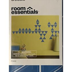 Room Essentials Triangles Removable Wall Decals - Blue 96 Pieces