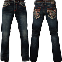 Kyпить AFFLICTION ACE FLEUR FINN Men's Denim Jeans Dark Blue на еВаy.соm