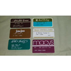Kyпить Lot of 6 VTG Credit Cards Sears Lord n Taylor Neiman Marcus Saks Fifth Ave Macys на еВаy.соm