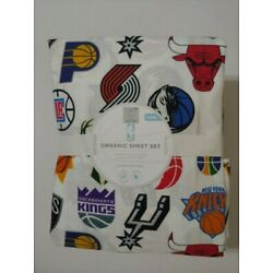 Kyпить Pottery Barn Kids NBA Basketball Team Logo Organic Sheet Set Twin NWT Laundered на еВаy.соm