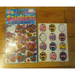 Kyпить Vintage 1990s Lisa Frank Bear Hat Heart Stickers-2 sheets-Music Notes-Penguins на еВаy.соm