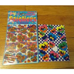 Kyпить Vintage 1990s Lisa Frank Bear Hat Heart Stickers-2 sheets-Scottie Dogs-Puppies на еВаy.соm