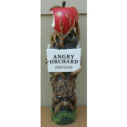 Kyпить ANGRY ORCHARD HARD CIDER CRISP APPLE FIGURAL  BEER TAP HANDLE 11 INCH WALDEN NY на еВаy.соm
