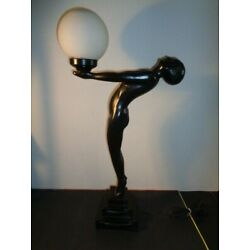 Kyпить Vintage Rare Art Deco  Black Nude Lady Table Lamp (25 by 15 by 7