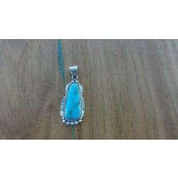 Kyпить Native American Sterling Silver And Turquoise Pendant( Navajo ) на еВаy.соm