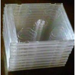 Kyпить Lot of 10 New, Standard-Thickness, Double (2 Discs), Clear, Empty CD Jewel Cases на еВаy.соm