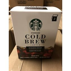 STARBUCKS COLD BREW COFFEE PITCHER PACKS Signature Black 6 Packs 3 Boxes