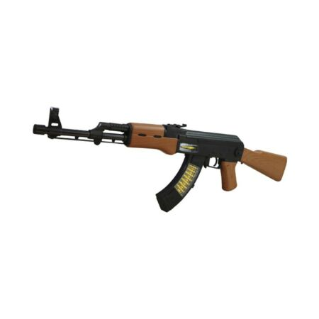 img-Kids AK47 Toy Sniper Rifle Lights Sounds Vibration Play Army Solder Military UK