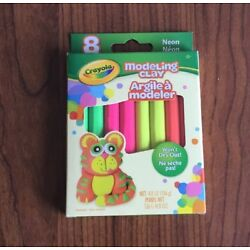 Crayola Modeling Clay - NEON - Non Toxic - 3 Packs of 8 Pieces of Clay - NEW