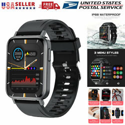 Bluetooth Smart Watch Heart Rate Fitness Tracker For iPhone iOS Samsung Android