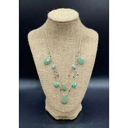 SILPADA-Sterling Silver Amazonite Howlite CZ Two Layer Cord Necklace N2322