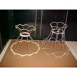 Kyпить  WIRE LAMPSHADE FRAMES  with CROWNS LOT of 3 на еВаy.соm