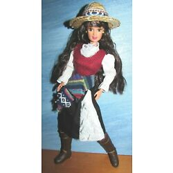 Kyпить Chile Dress Boots Hat Brown hair Jointed Barbie Doll of the World на еВаy.соm
