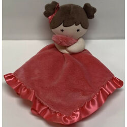 Kyпить Carters Doll Lovey Coral Pink Plush Satin Security Blanket Rattle Baby Lovey на еВаy.соm