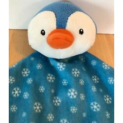 Kyпить Russ Blue Penguin Snowflakes Knots Knotted Corners Baby Security Blanket Lovey на еВаy.соm