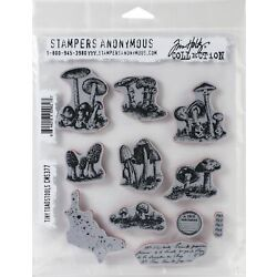 Tim Holtz Cling Stamps 7''X8.5''-Tiny Toadstools