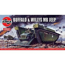 Airfix Vintage Classic Buffalo Willys MB Jeep 1:76 Plastic Model Kit A02302V