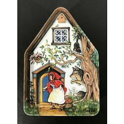 Silver Crane 1996 Fairy Tale Cottages LITTLE RED RIDING HOOD Tin Box England