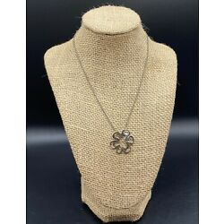 SILPADA-Sterling Silver Hammered Flower Cut Out Pendant Necklace N1347