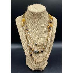 SILPADA-Sterling Silver Yellow Serpentine Bronze Pearl Glass Necklace N1928 #2