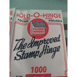Three  QTY 1 Unopened Fold-O-Hinge Packet of 1000 Stamp Hinges NEW SEALED
