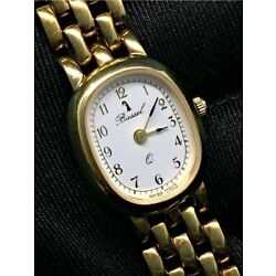 Bassel Gold Tone Woman Quartz Watch New Old Stock 0 23/32in