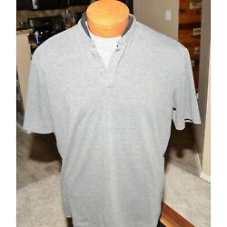 7 Diamonds Men's Grey Henley Tee T Shirt Size XL Pre Owned Seven Extra Large