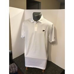 Under Armour Men s Polo Shirt White Poly Spa Grosse Pointe Yacht Club M NWT