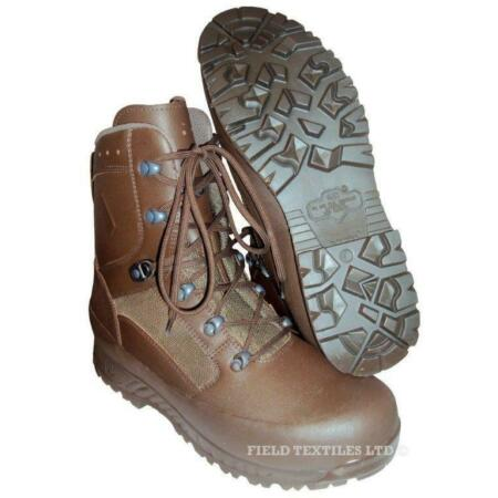img-HAIX Brown COMBAT Boots MALE - BRAND NEW IN BOX - Size 10W - British ARMY Issue