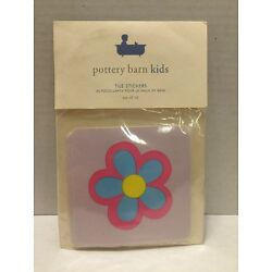 Pottery barn Kids Tile Stickers Colorful Flower Set Of 10
