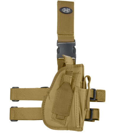 img-MFH Right Handed Leg Holster Tactical Combat Pouch Airsoft Shooting Coyote Tan