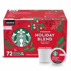 ???? Starbucks Limited Edition Christmas / Holiday Blend Coffee 72 K-CUP ????4/2022