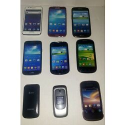 Samsung Cell Phone Prop / Display Dummy Model Toy Phone Lot Of 9 See Pictures
