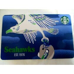 2021 STARBUCKS SEATTLE SEAHAWKS GIFT CARD. LIMITED EDITION NEW