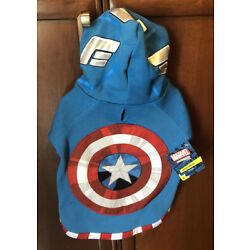 Marvel - Captain America Dog Hoodie - Petco Collection - NWT - XS, M, L, XL