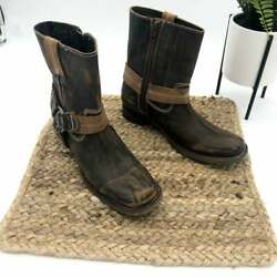 NWT! Bed Stu Distressed Leather Roma Boots 6 Womens