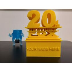 20th Century Fox Logo   Movie Style Sign   3D Printed Custom Personalizable Gift