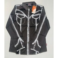 Steampunk Raven Shirt With Chalk Like Detail Size L 38 Chest