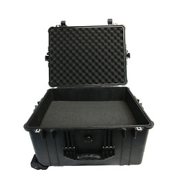 Pelican 1620 Protector Case with FOAM included! - Black Hard Rolling Travel Case
