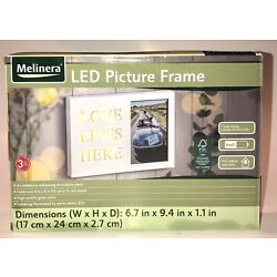 LED Picture Photo Frame Melinera Love Lives Here Dim 6.7  9.4  1.1  Glass New