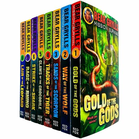 img-Mission Survival Series Books 1 - 8 Collection Set by Bear Grylls Paperback NEW