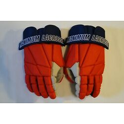 Max Lax Red/Blue Box Lacrosse Gloves