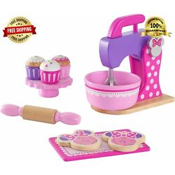 KidKraft Baking Accessories Set Minnie Mouse Wooden Baking Set No Assembly Toy.