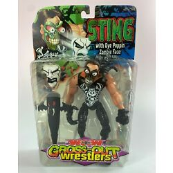 Sting Vintage WCW Gross Out Wrestlers Action Figure New MOC 2000 Toybiz Rare AEW