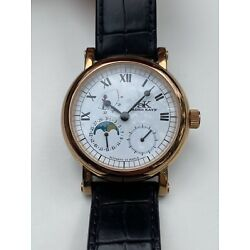 Adee Kaye Beverly Hills Men's Automatic Watch w/ Date & Moon Phase