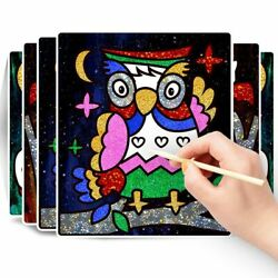 DIY Cartoon Painting Crafts for Kids Scraping Painting Toys Educational Toys`