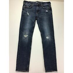 Old Navy Blue Jeans, Size 31 X 30.  Skinny.  Built Tough.  Stains On Knees.